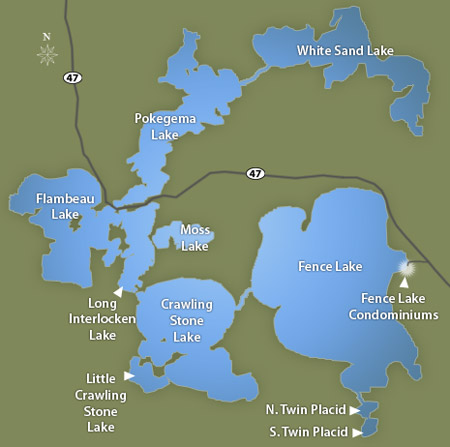 Fence Lake Chain, Map